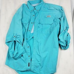 Magellan Sportswear Aqua Button Down Shirt